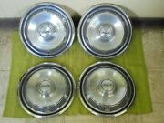 69 70 Ford Hub Caps 14 Set Of 4 Wheel Covers 1969 1970 Hubcaps