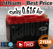 Lightweight Motorcycle Battery Lithium Only 616g Replace Yt7b-bs Yt9b-bs Agm