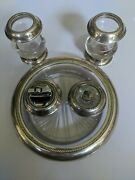 Lot Sterling Silver Glass 3 Cigarette Holder Urns And 2 Lighters Frank Whiting