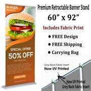 Banner Stand - Super Deluxe Retractable 60x 92 - Includes Fabric Print