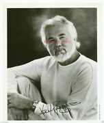 Kenny Rogers 8 X 10 Black And White Hand Signed Candid Photo-135
