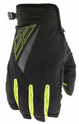 Fly Racing Title Cold Weather Gloves Black/hi-vis 7 X-small
