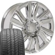 Oew Fits 22x9 High Country Wheel And Tire Gmc Chevy Chrome Rim Cv39
