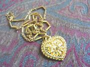 24k 24kt Yellow 9999 Gold Heart Pendant Necklace 24.8g
