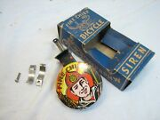 Vintage Bicycle Fire Chief Siren Toy Noise Maker Ranger Steel Tin Litho Signal