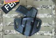 For Sig Sauer P365 Xl, Leather Holster,pancake, Sweat Shield, Made In Usa, 365xl