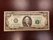 Series 1974 Us One Hundred Dollar Bill 100 Cleveland D11719780a