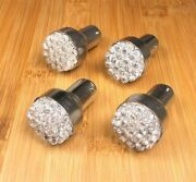 4 Bbt 1142 Double Contact Tail/stop 12 Volt White 19 Led Trailer Light Bulbs