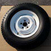1950and039s Ford 15 X 5 Steel Riveted Wheel 4.5 On 5 Lug And Atlas Grip Safe Tire