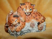 Lenox Nature's Young Played Out Tigers Figurine 1988