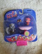 Rare Littlest Pet Shops 131 And 132 Pink Bird And Grey Squirrel