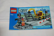 Genuine Lego City 7936 Level Crossing Instruction Manual Only