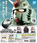 Bandai Gashapon Exceed Model Gundam Head Collection 2 Vol.2 Set Of 3 In Stock
