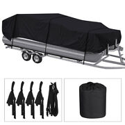 Pontoon Boat Cover Waterproof Heavy Duty Fit 17ft To 24ft Long And Beam Up To 102