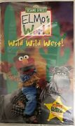Sesame Street Elmoand039s World Wild Wild West Vhs 2001 Clamshell-tested-rare