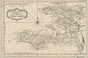 Poster, Many Sizes Map Of Haiti 1764 In French