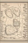 Poster Many Sizes Map Of Jerusalem Israel With New Testament Locations 19th Ce