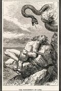 Poster, Many Sizes Punishment Of Loki By Louis Huard From Norse Elder Edda 1900