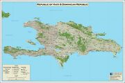 Poster, Many Sizes Map Of Haiti And Dominican Republic 2010