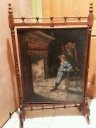 Vintage Antique Old Painting Oil On Canvas Victorian Signed N. Woodroof 1894