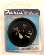 Faria 14604 Professional Red Water Temp Gauge 100-250f Marine_made In The Us