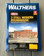 Walthers 1/160 N Scale Cornerstone 3 Stall Modern Roundhouse Kit 933-3260 F/s