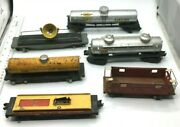 Lionel Train Lot Of 6 Sunoco 2555 Candn.w.r.y. 42597, And Afl 494, 915, Shell 480