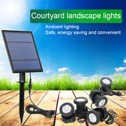 For Fountain Pool Pond Outdoor Led Solar Powered Spotlight Light Lamp Waterproof