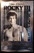 Rocky Iii Original Silver Poster 27 X 41 Extremely Rare