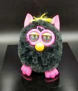 Vtg 2012 Black Fur And Pink Ears Interactive Tested And Works Furby Boom  19