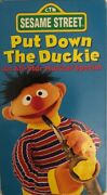 Sesame Street Put Down The Duckie An All-star Musical Specialvhs1994very Rare