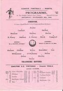 1944 Scarce S/s Chester V Tranmere Rovers