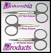 Three Must Have Fly Tying Scissors Black Loops Tungsten Carbide Tips - Cp Made