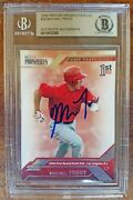 Mike Trout Signed Auto Autographed 2009 Tristar Prospects Plus Rc Rookie Beckett