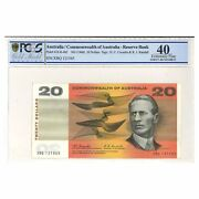 Commonwealth Of Australia 1967 20 Paper Banknote Coombs/randall Pcgs Graded Ef