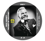 Paul Harvey News And Comment 3,026 Shows Old Time Radio Mp3 4-cd's