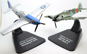 North American P51d Mustang And Focke-wulf Fw190a-5 2 Plane Set 172 Scale Models