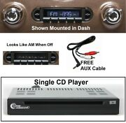 1955-1959 Chevy Truck Radio + Single Disc Cd Changer + Usb + Aux Stereo 630