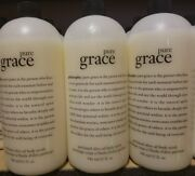 Philosophy Pure Grace Lot Of 3 Perfumed Olive Oil Body Scrub No Pumps
