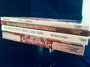 4 Quilting Books Easy Best Selling Patchwork Guide Rotary Cutter Quilts H/b Euc