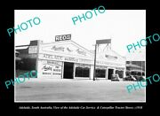 Old Postcard Size Photo Adelaide Sa The Caterpillar Tractors Dealership C1938