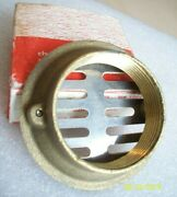 Boat Deck Drain Floor Shower Grate - 2 I.p.s. Marine Hardware Brass And Stainless