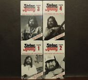John Pearse String Along Learn Guitar Vhs Tape Lot Of 4 Brand New P.b.s. 1988