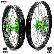 Kke 21/19 Dirt Bike Mx Wheels Rims Fit Kawasaki Kx125 Kx250 2003 2004 2005 21in.