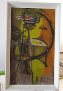 Vintage Hand Painted Modernist Abstract Picasso Style Signet Kamil 58 Picture.