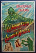 Creature Of The Black Lagoon Jack Arnold 19541 Sheet Argentina Poster Y1