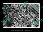 Old Postcard Size Photo Of Brisbane Queensland Aerial View Of Royal Show C1958