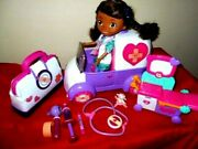 Doc Mcstuffins Toy Rescuer Ambulance With Mcstuffins Doll And Big Lot Accessories