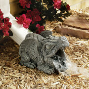 Gutter Gothic Dragon Downspout Architectural Home Lawn Accessory Sculpture