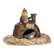 Prime Real Estate 360 Degree Sculpted Arched Door Toad House Gnome Garden Statue